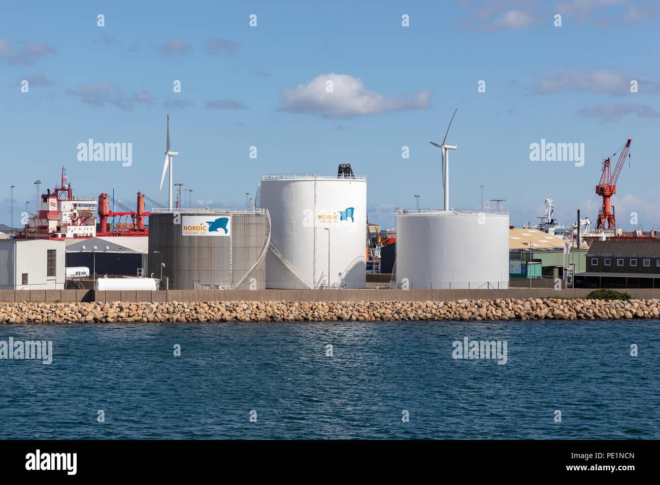 Nordic Marine Oil, Frederikshavn, Denmark Stock Photo