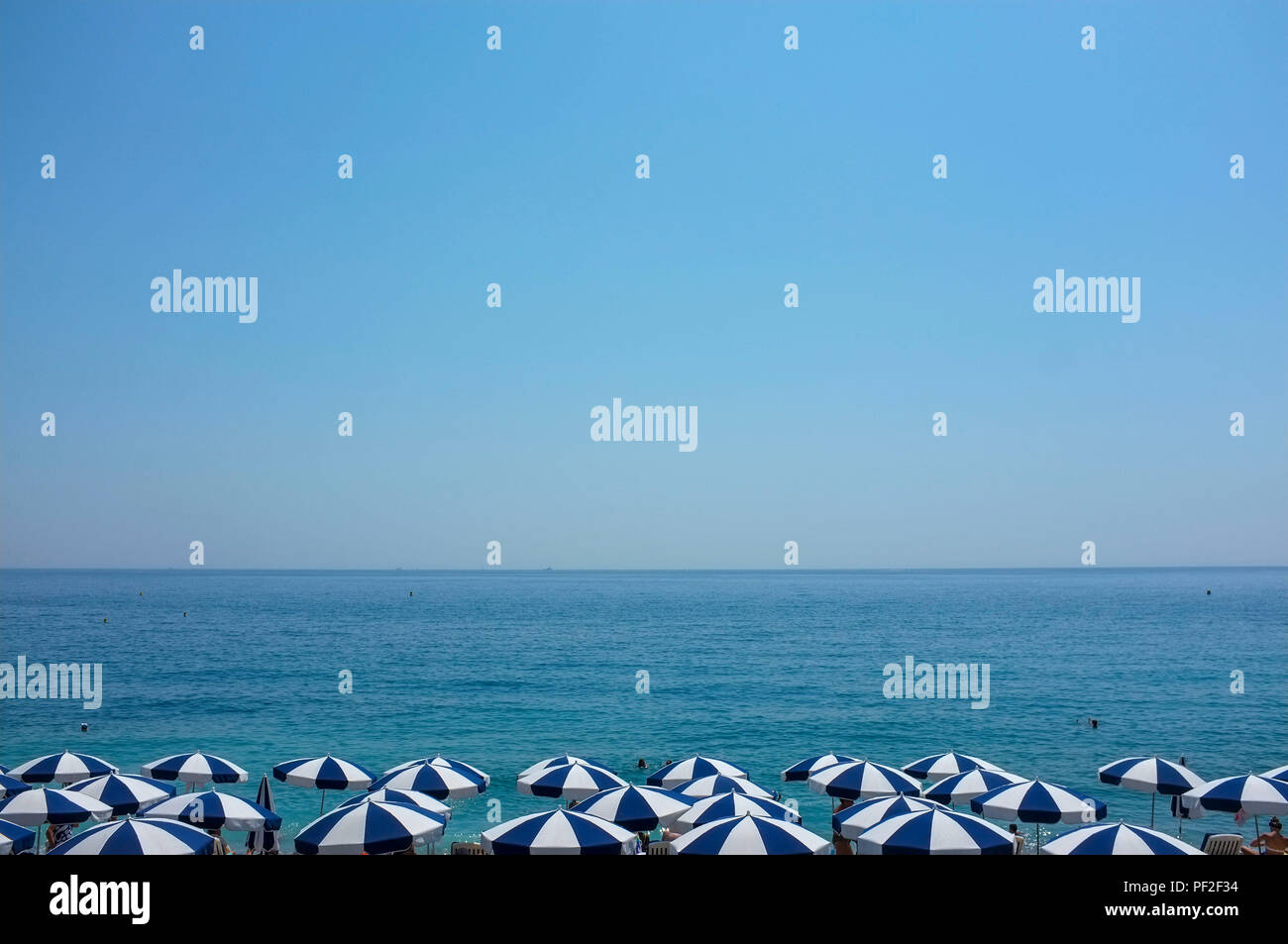 blue-and-white-parasol-on-the-beach-in-n