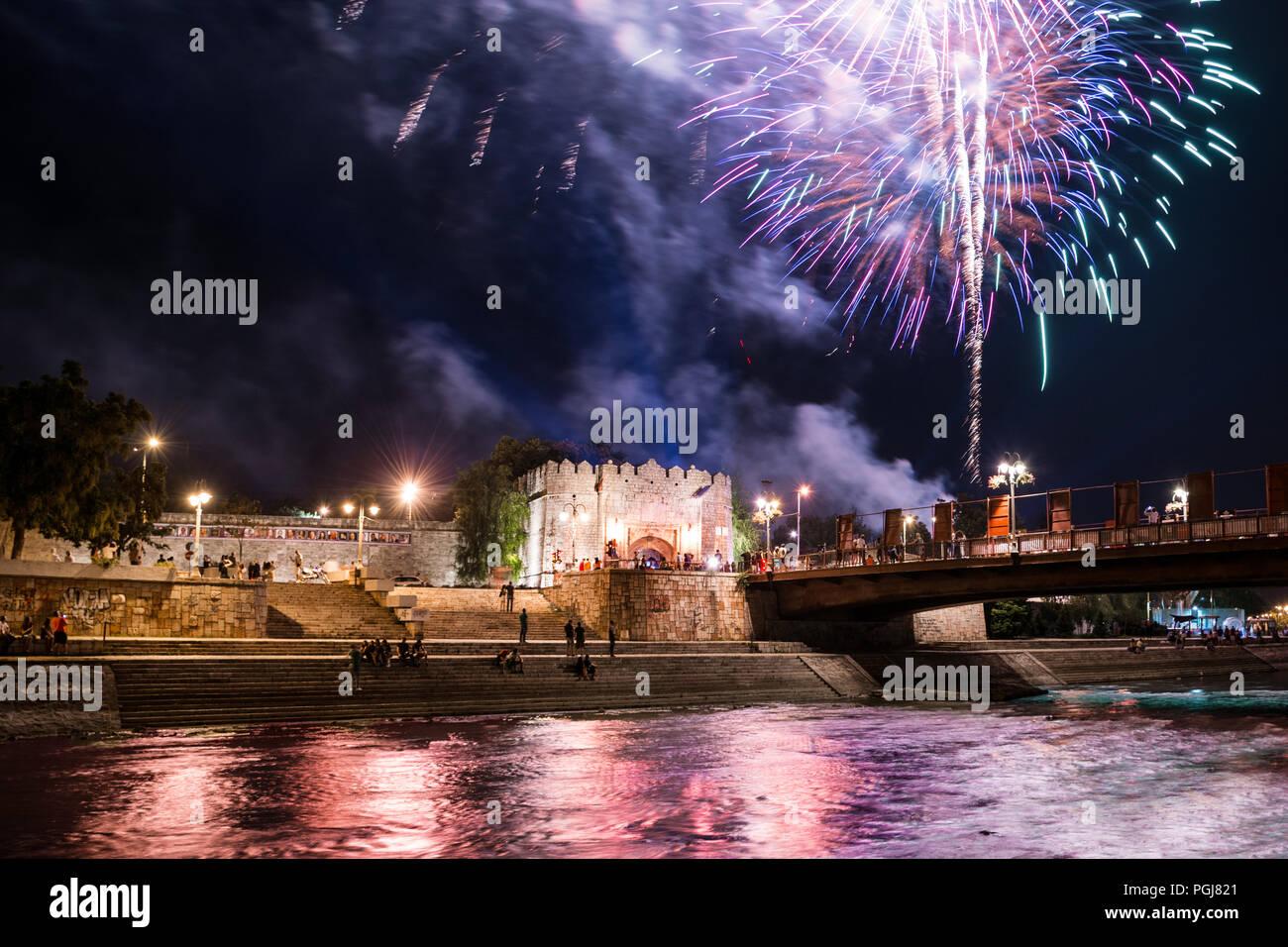nis-serbia-august-25-2018-summer-firewor