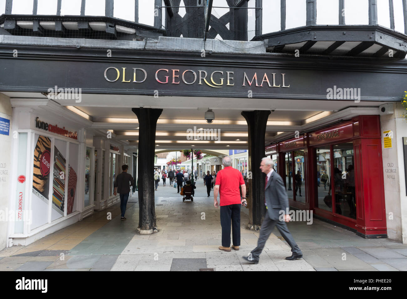 Entrance to Old George Mall shopping centre off of the High Street in Salisbury, Wiltshire, UKStock Photo
