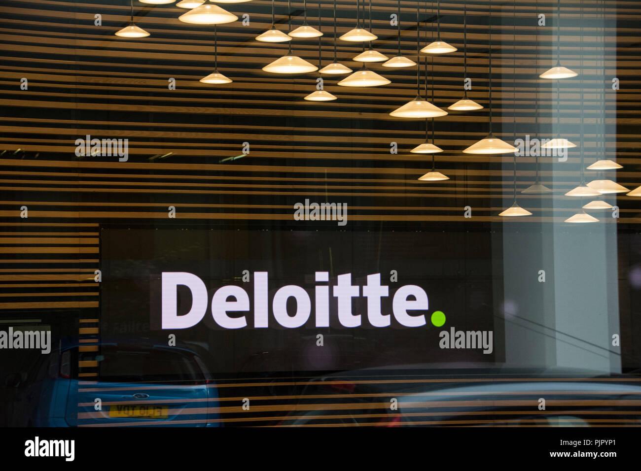 New Deloitte Headquarters, Stonecutter Court, City of London, UK Stock Photo