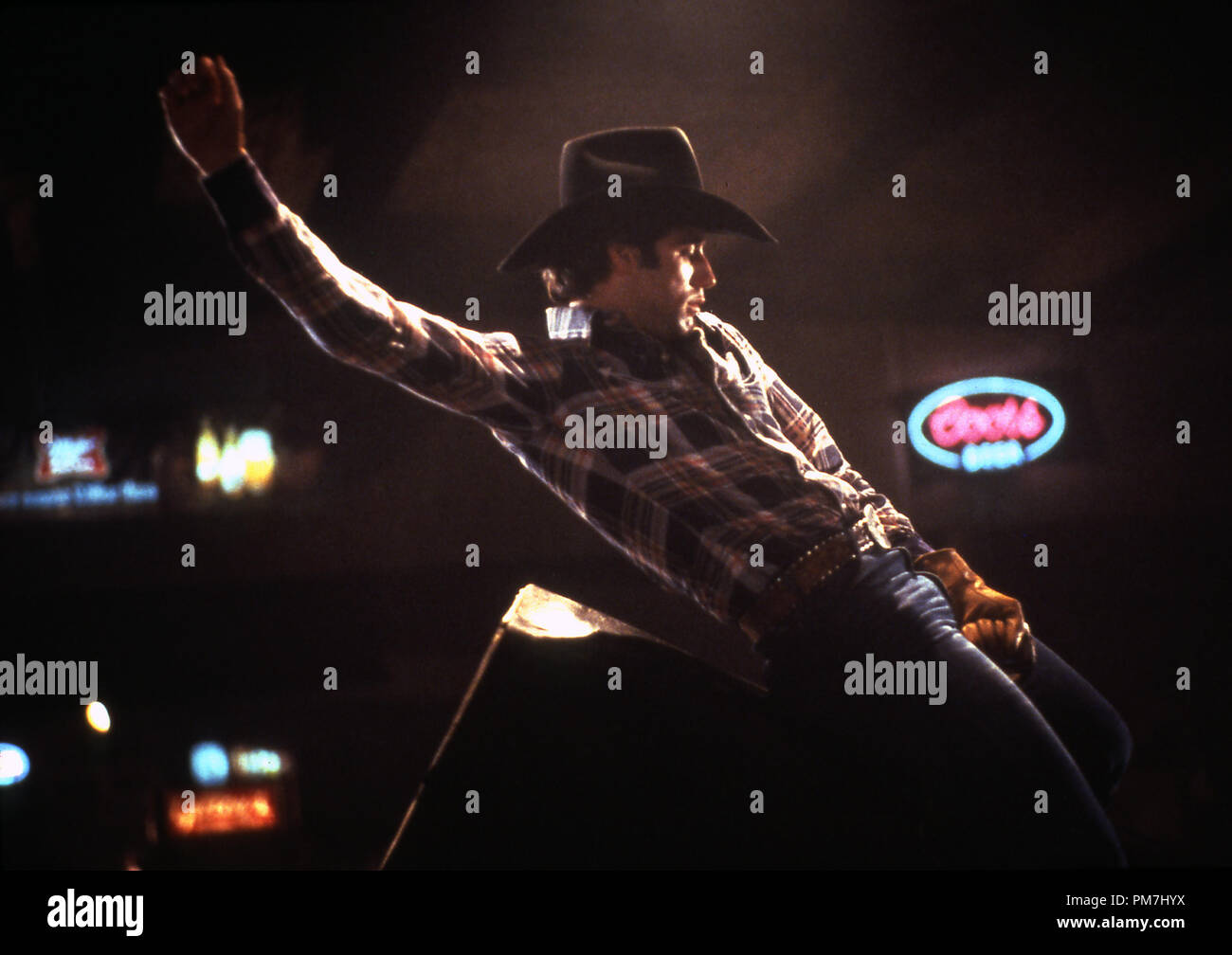 "Film Still from ""Urban Cowboy"" John Travolta © 1980 Paramount Pictures Stock Photo"