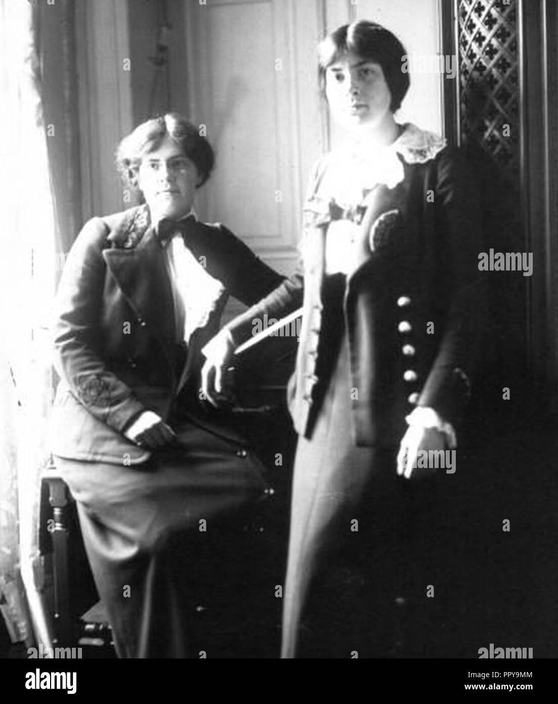 Nadia et Lili Boulanger 1913. Stock Photo