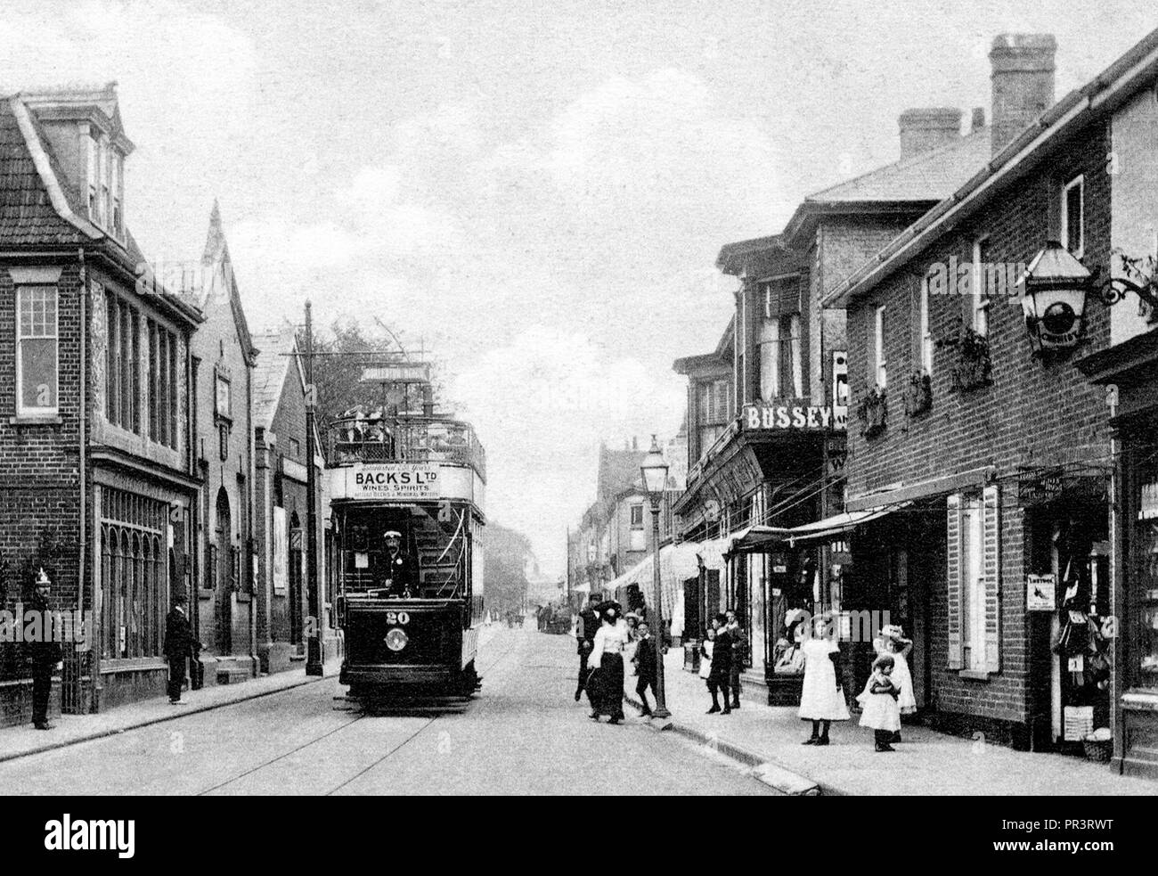 Gorleston High Street early 1900's Stock Photo