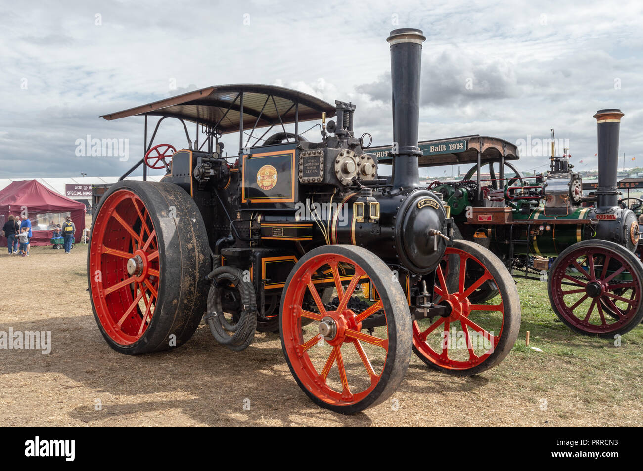"""J. and H. McLaren: No 1295 traction engine """"Mr Tweedie"""" on display at the Dorset Steam fair 2018 Stock Photo"""