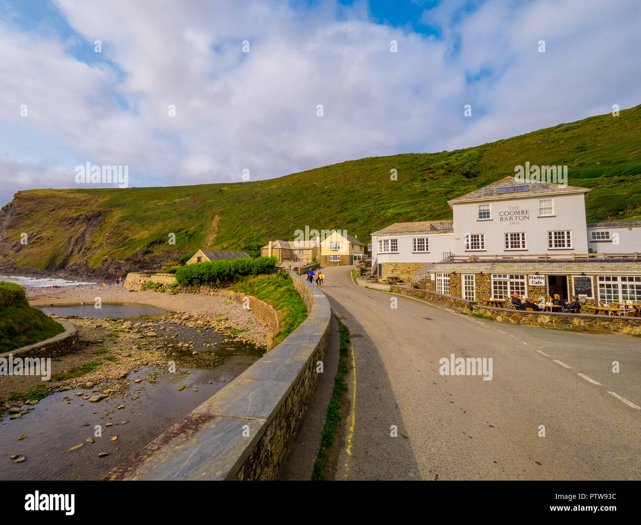 Coombe Barton Inn in Crackington Haven Cornwall - CORNWALL / ENGLAND - AUGUST 12, 2018 Stock Photo