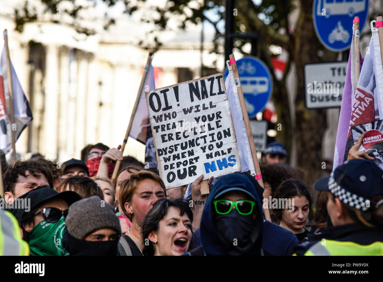antifa-anti-fascist-action-and-other-opposition-to-democratic-football-lads-alliance-block-road-for-the-dfla-protest-march-humorous-placard-brexit-PW9Y0X.jpg