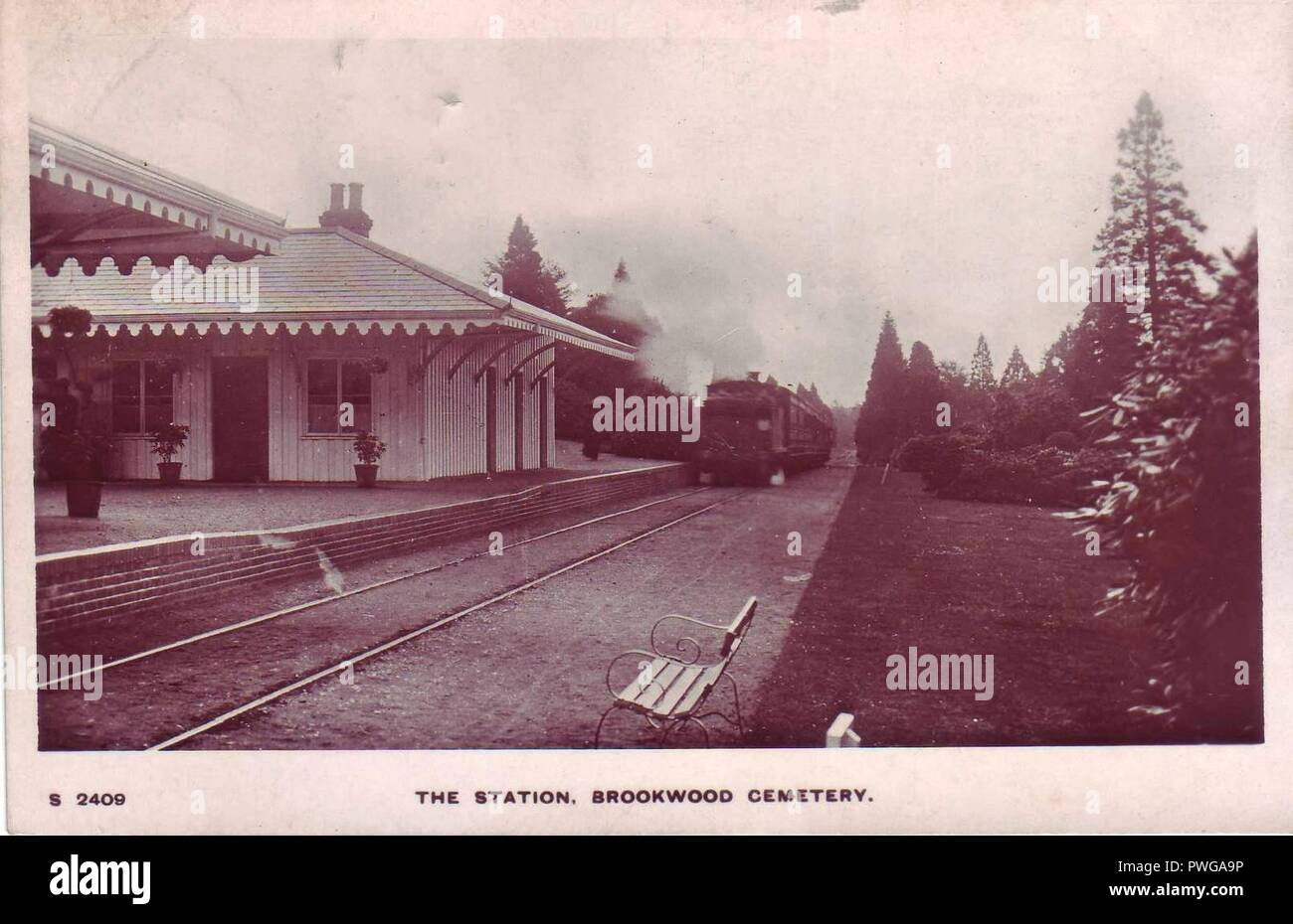 Brookwood Cemetery North railway station. Stock Photo