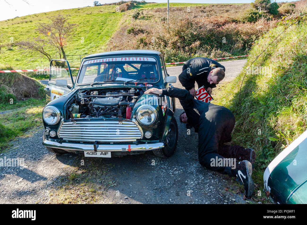 ballydehob-west-cork-ireland-driver-maurice-whelton-and-his-navigator-ivan-bennett-pulled-out-of-the-rally-due-to-a-broken-shock-on-their-austin-mini-during-a-stage-of-the-fastnet-rally-2018-organised-by-skibbereen-car-club-credit-andy-gibsonalamy-live-news-PYJWF1.jpg