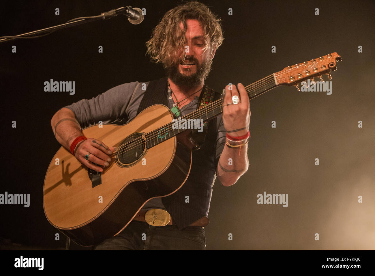 "Milan Italy. 28 October 2018. The Australian band JOHN BUTLER TRIO performs live on stage at Alcatraz durinh the ""European Tour 2018/19"" Credit: Rodolfo Sassano/Alamy Live News Stock Photo"