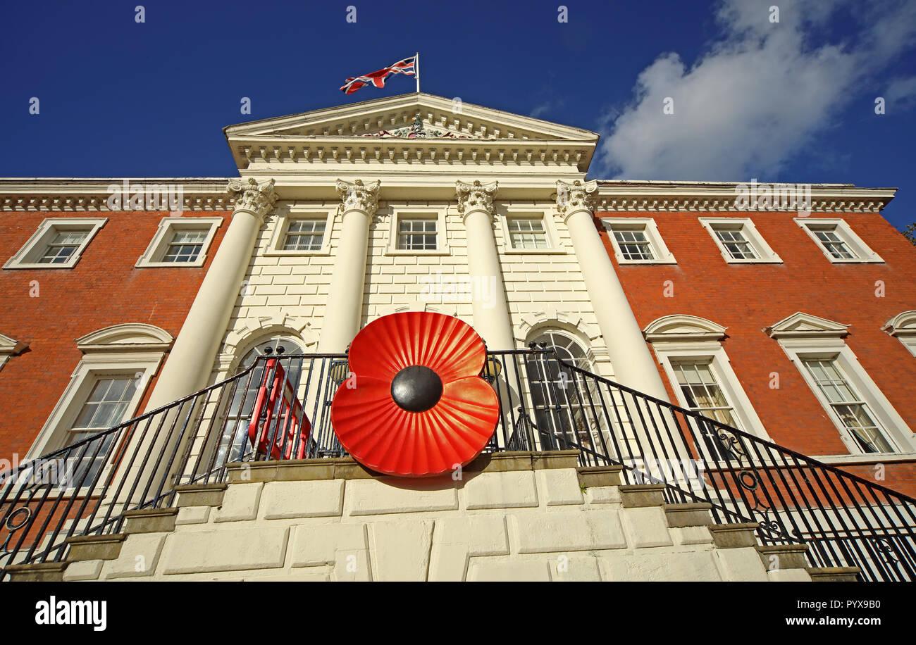 GoTonySmith,@HotpixUK,Hotpixuk,Giant Poppy,Giant poppies,giant,big,large,big poppy,large poppy,on,Bank Park,Sankey St,Warrington,Cheshire,North West England,UK,Town Hall,Park,entrance,door,steps,Warrington Borough Council,North West,England,GB,Giant remembrance poppy Warrington Town Hall,Cheshire North West England,Remembrance poppy on Warrington Town Hall,Red Poppy,Remembrance Day,WWI,11/11,11th November,11th,November,war,1914,1918,14-18,red poppy Warrington Town Hall,town centre,town