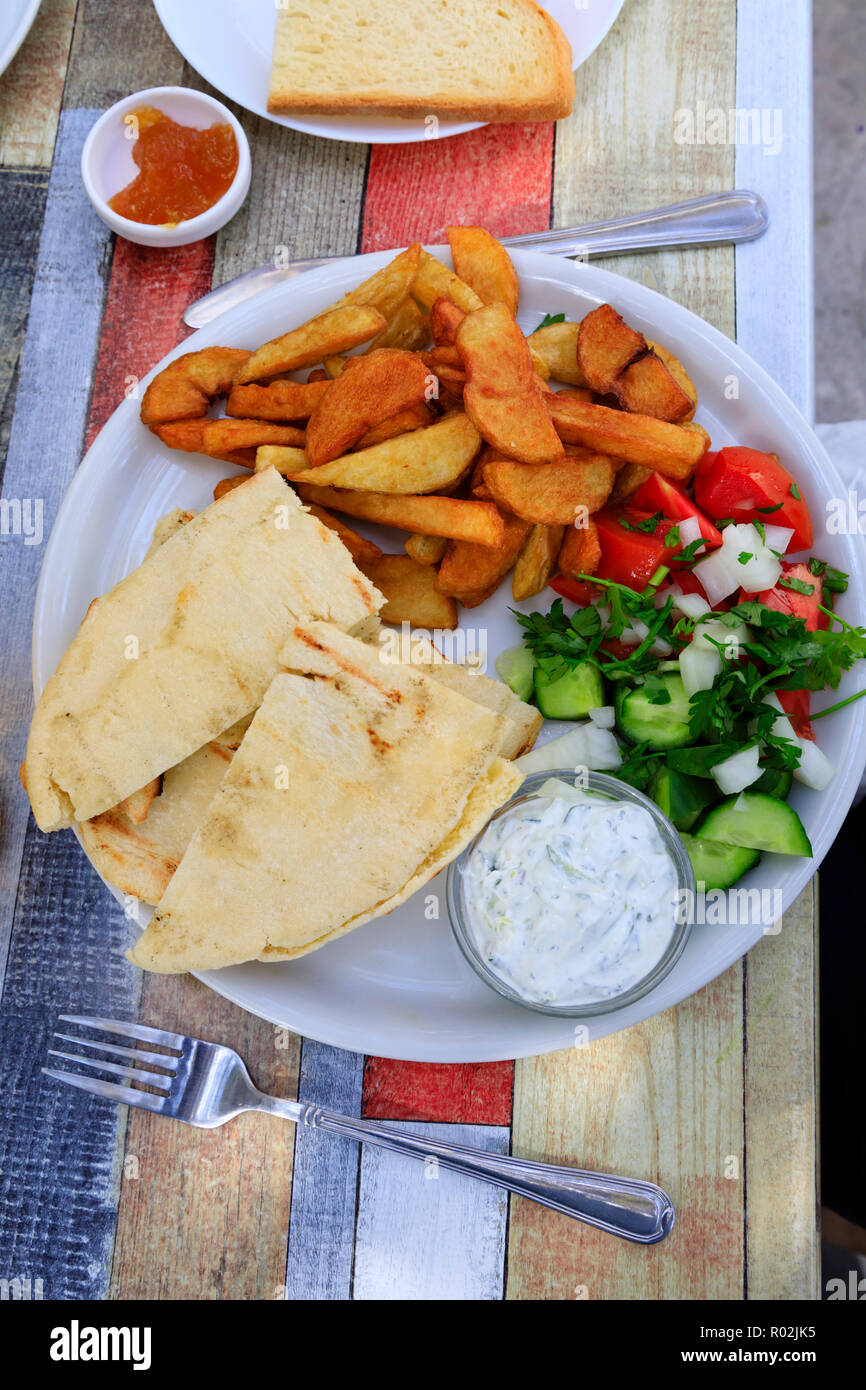 cypriot-food-on-a-white-plate-at-a-villa