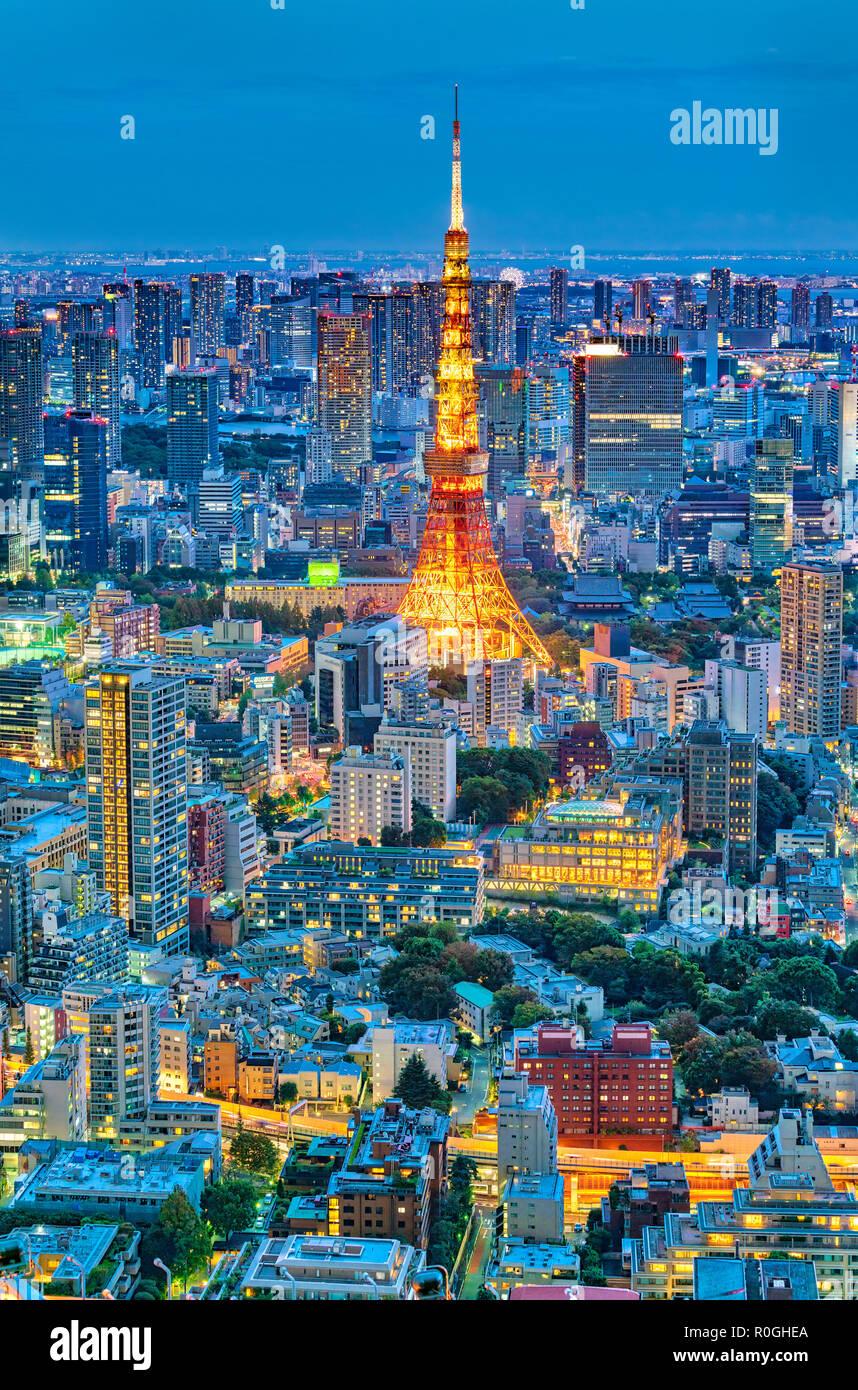 https://c7.alamy.com/comp/R0GHEA/tokyo-skyline-with-tokyo-tower-at-night-R0GHEA.jpg