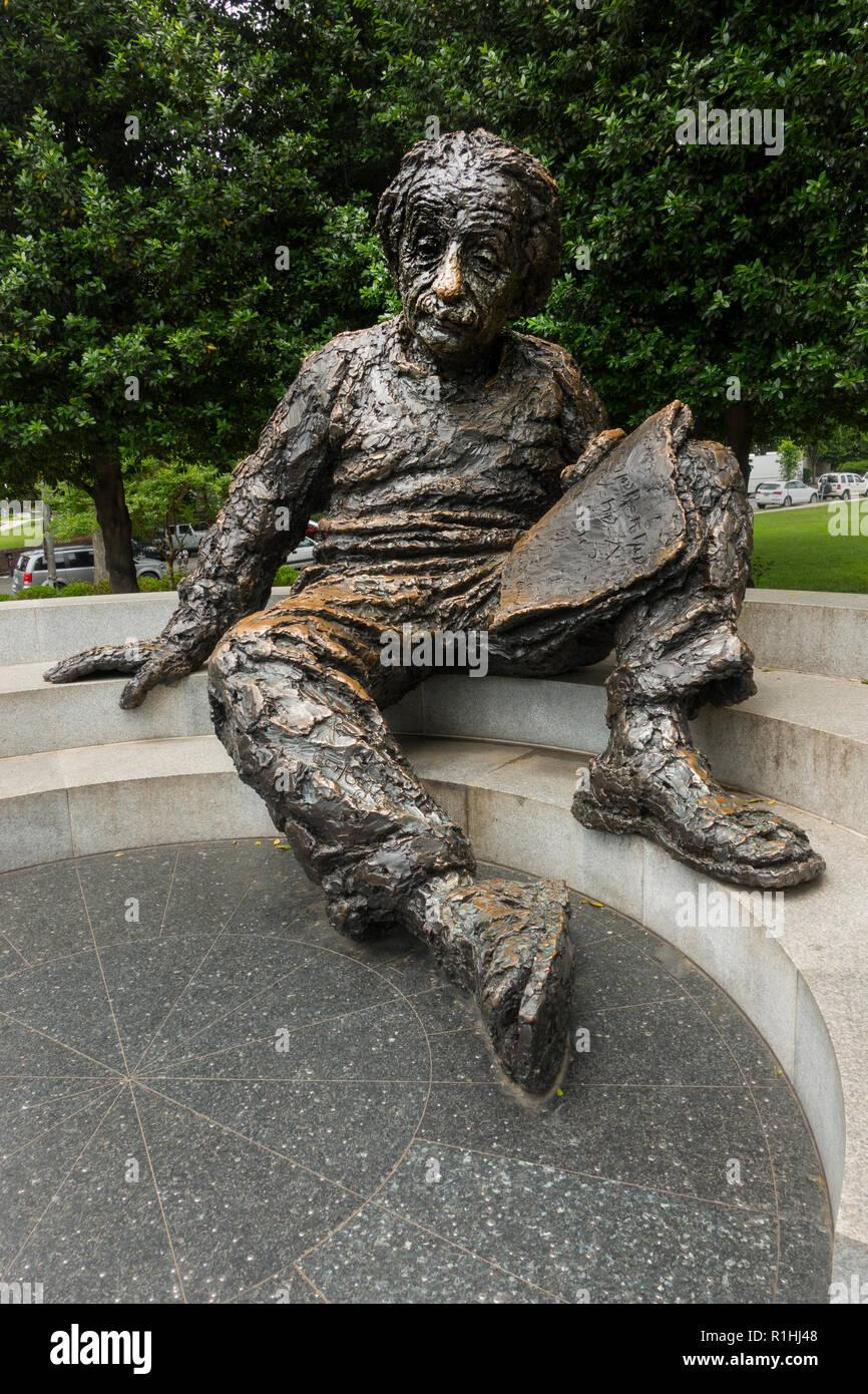 Albert Einstein Memorial Washington DC Stock Photo