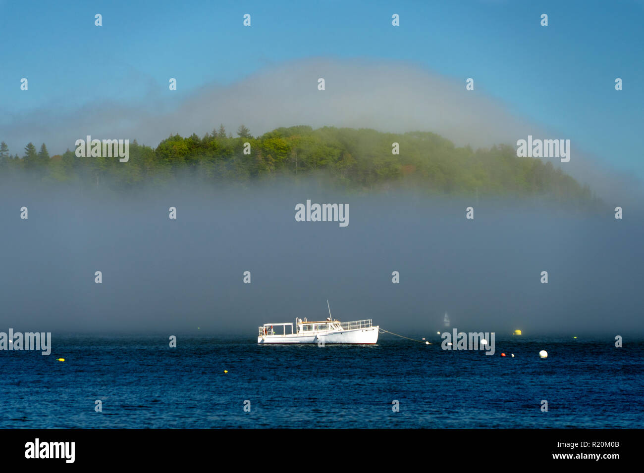 white-boat-anchored-in-frenchman-bay-as-morning-mist-is-rising-from-the-water-bar-harbor-maine-usa-R20M0B.jpg