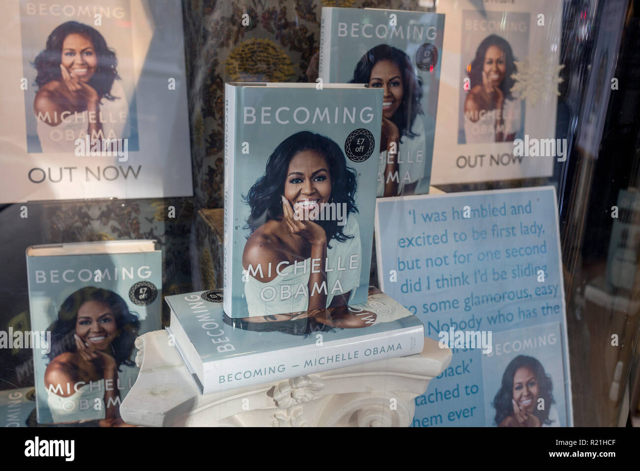 a-display-of-books-in-the-window-of-wate