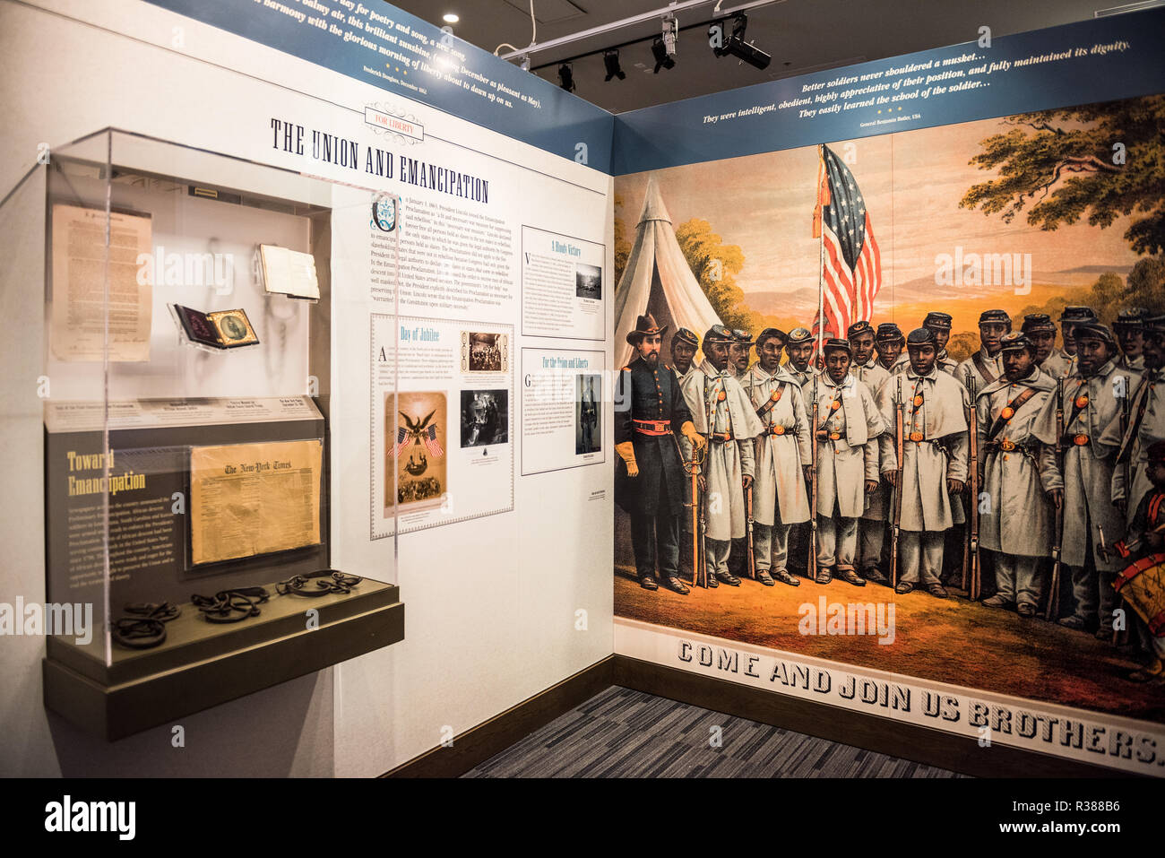WASHINGTON, DC - The African American Civil War Museum preserves and tells the stories of the united States Colored Troops in the American Civil War. The museum is located in Northwest Washington DC, across the street from the African American Civil War Memorial, in the U Street neighborhood. Stock Photo