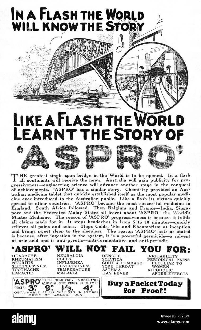 vintage-1932-australian-newspaper-advertisement-for-aspro-at-the-time-the-sydney-harbour-bridge-was-opened-R5YEX9.jpg