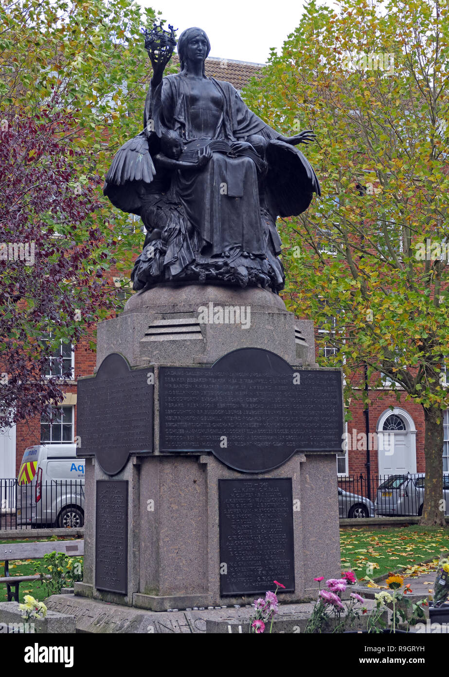 GoTonySmith,@HotpixUK,HotpixUK,Souh West England,UK,listed grade2,memorial,bronze,statue,King Square Bridgwater,TA6,plinth,civilisation,IN HONOUR OF THE MEN OF BRIDGWATER WHO GAVE THEIR,IN THE GREAT WAR 1914-1918,1914-1918,1914,1918,sunday,remembrance sunday,Korean War,Falklands Conflict,Afghan conflict,soldiers,conscripts,imperial wars,Georgian square,Georgian,square,War Memorials Trust,War Memorial Trust,plaques,town,town centre,Sergeant Benjamin James Knight,British Forces,casualties,casualty,war dead