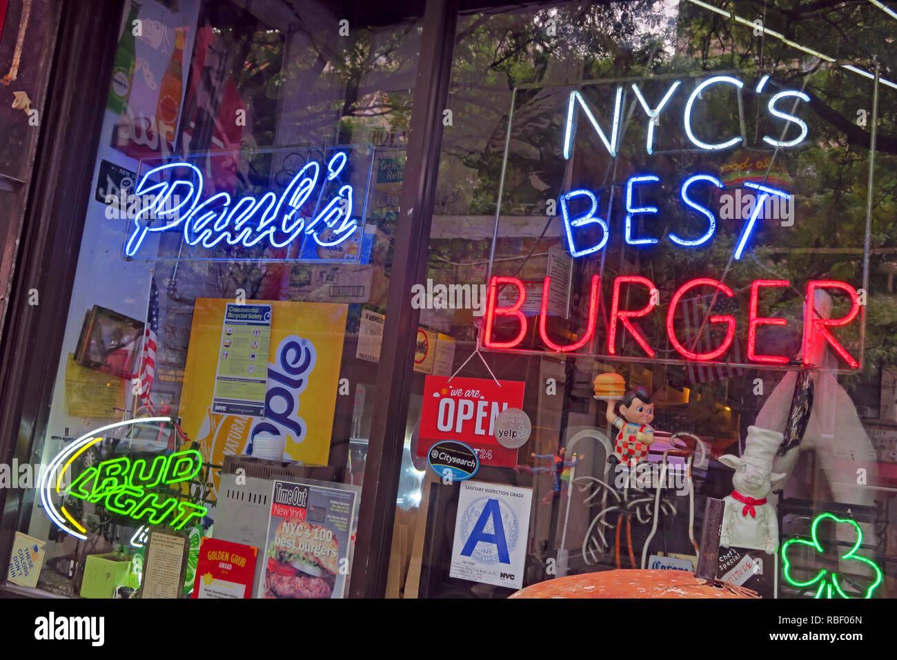 GoTonySmith,@HotpixUK,HotpixUK,NOHO NYC,NYC,New York City,St Marks Place NYC,New York St Marks Place,street,New York Street,USA,America,City Centre,city,centre,center,city center,East Village,Eastvillage,New York Travel Tourism,NYC Best Burger,Best Burger,sign,neon,Beef,Beefburger,Beef Burger,patty,cafe,restaurant,diner,Manhattan,NY,beef,red white blue,shopfront,window,sign in window