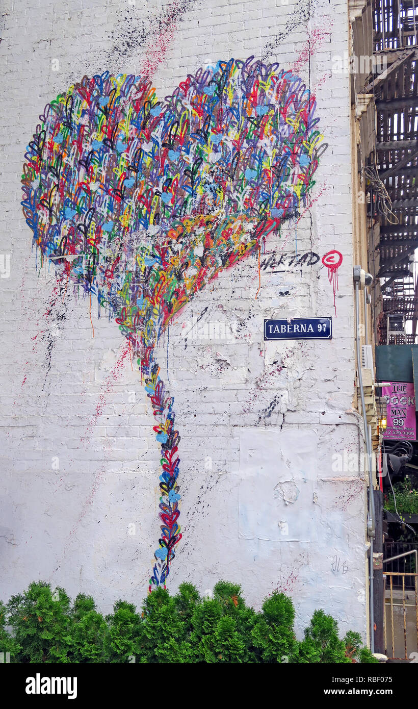 GoTonySmith,@HotpixUK,HotpixUK,NOHO NYC,NYC,New York City,St Marks Place,street,New York Street,USA,America,City Centre,city,centre,center,city center,East Village,Eastvillage,New York Travel Tourism,hearts,Manhattan,NY,streets,shops,retail,Taberna 97,Hertad,art,street art,painting,graffiti,urban art