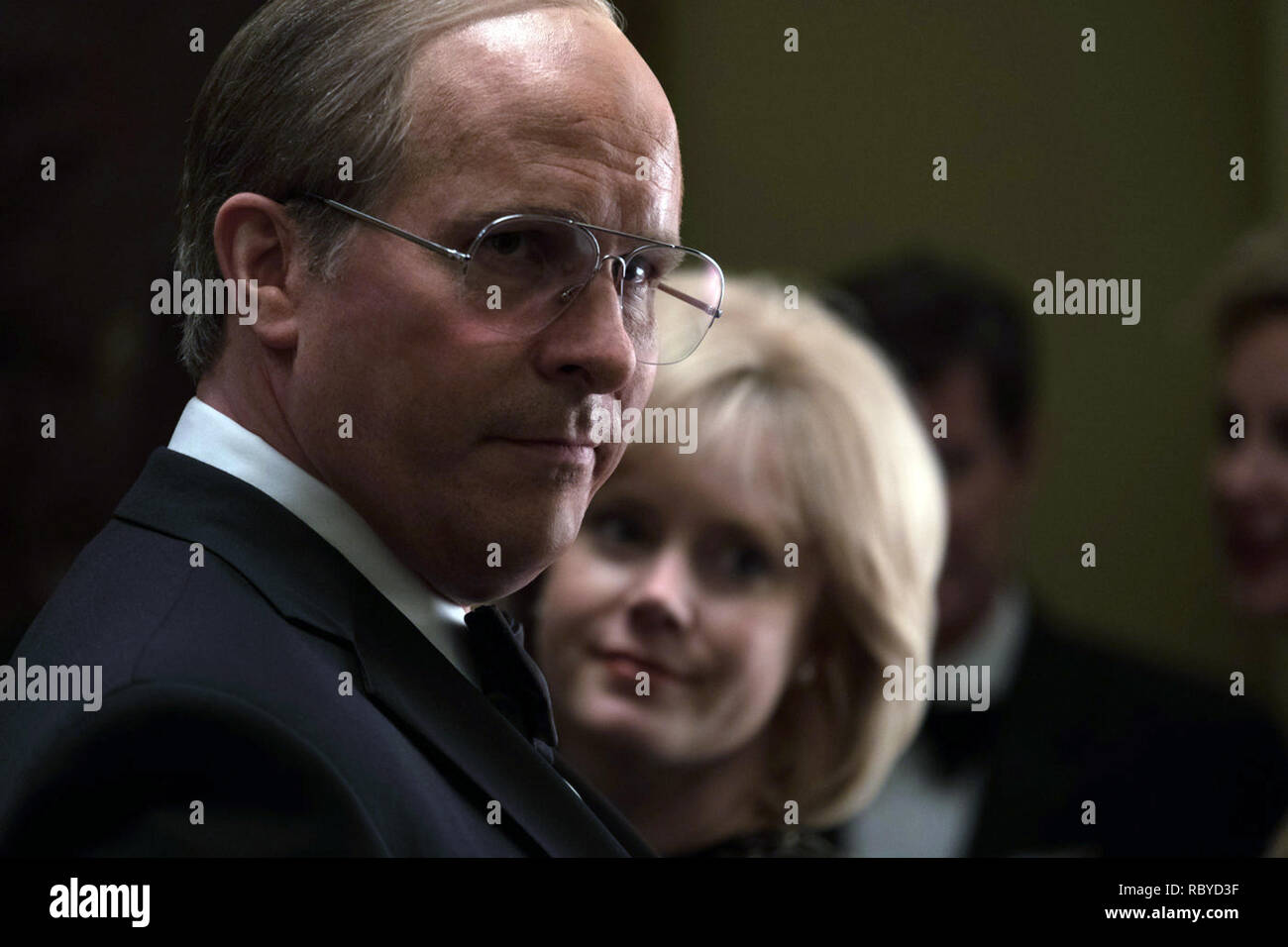 Vice is a 2018 American biographical comedy-drama film written and directed by Adam McKay. The film stars Christian Bale as Dick Cheney.    This photograph is for editorial use only and is the copyright of the film company and/or the photographer assigned by the film or production company and can only be reproduced by publications in conjunction with the promotion of the above Film. A Mandatory Credit to the film company is required. The Photographer should also be credited when known. Stock Photo