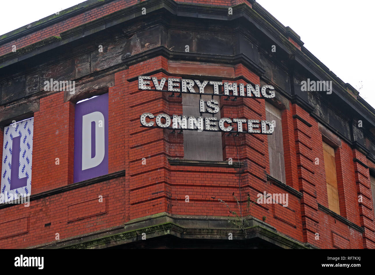 Manchester City Centre,Manchester,City Centre,city,NQ,NQ4,Northern Quarter,North West,England,UK,GoTonySmith,HotpixUK,@HotpixUK,buildings,streets,Railway,sign,Everything Is Connected,Everything,Is,Connected,sign,Fairfield St,Mayfield,history,brick,station,scheme,proposed,development,schemes,poster,posters,property,London,and,Continental,Railways,London,&,Continental,Railways,LNWR,London Midland,Goods Station,disused,Square One development,Square One,Prime,Suspect,drug,dealers,haunt