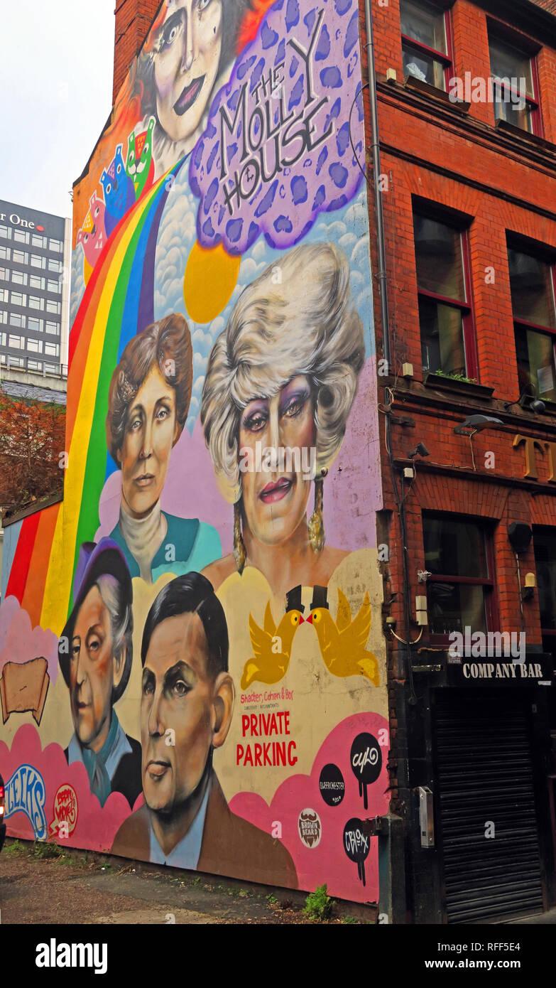 Manchester,city,@HotpixUK,HotpixUK,GoTonySmith,North West England,UK,England,Canal St,Canal Street,gay,village,Sackville,LGBT,community,CAMRA,real ale,LGBTQ,LGBTQ+,Richmond street Manchester,M1 3NB,M1,Manchesters Village,mural,gable-end,painting,gay icons,Alan Turing,Lily Savage,street art,LGBT icons,Anna Phylactic,Foo Foo Lammar,Emmeline Pankhurst,Quentin Crisp,Lauren Jo Kelly,Adam Pryce,Mark Wallis