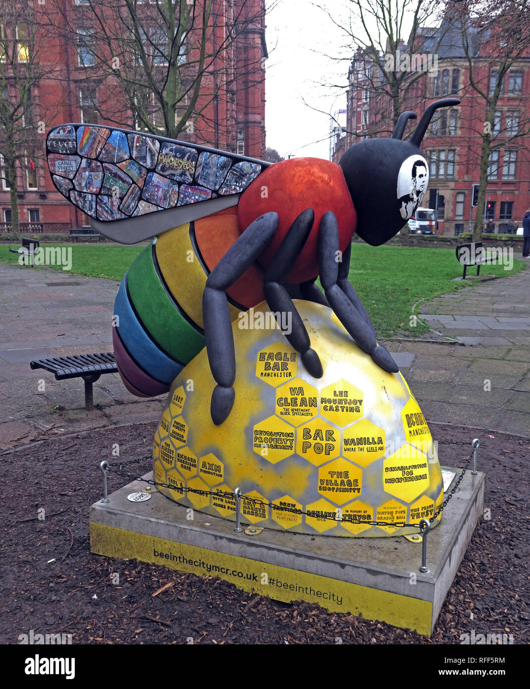 City centre,city,@HotpixUK,HotpixUK,GoTonySmith,North West England,UK,England,Canal Street,Gay Village,gay,village,LGBT,LGBTI community,community,Alan,Turing,Love is love,Bee In The City,Sackville Gardens,Canal St,Manchester