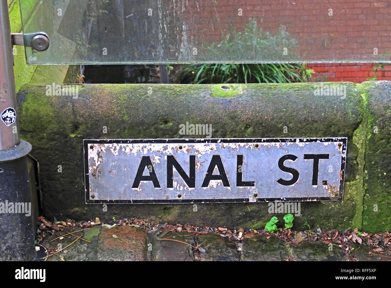 Manchester,City centre,city,@HotpixUK,HotpixUK,GoTonySmith,North West England,UK,England,Canal St,gay,village,Sackville,LGBT,LGBTI,community,Anal Street,anal,Anal treet,treat,sign,anal street,the centre of the Gay Village,LGBT Community,LBGTQ Community,defaced sign,defaced,street sign,famous,gay tourism,gay tourists,tourism,tourists,Rochdale canal,lesbian,gay clubs