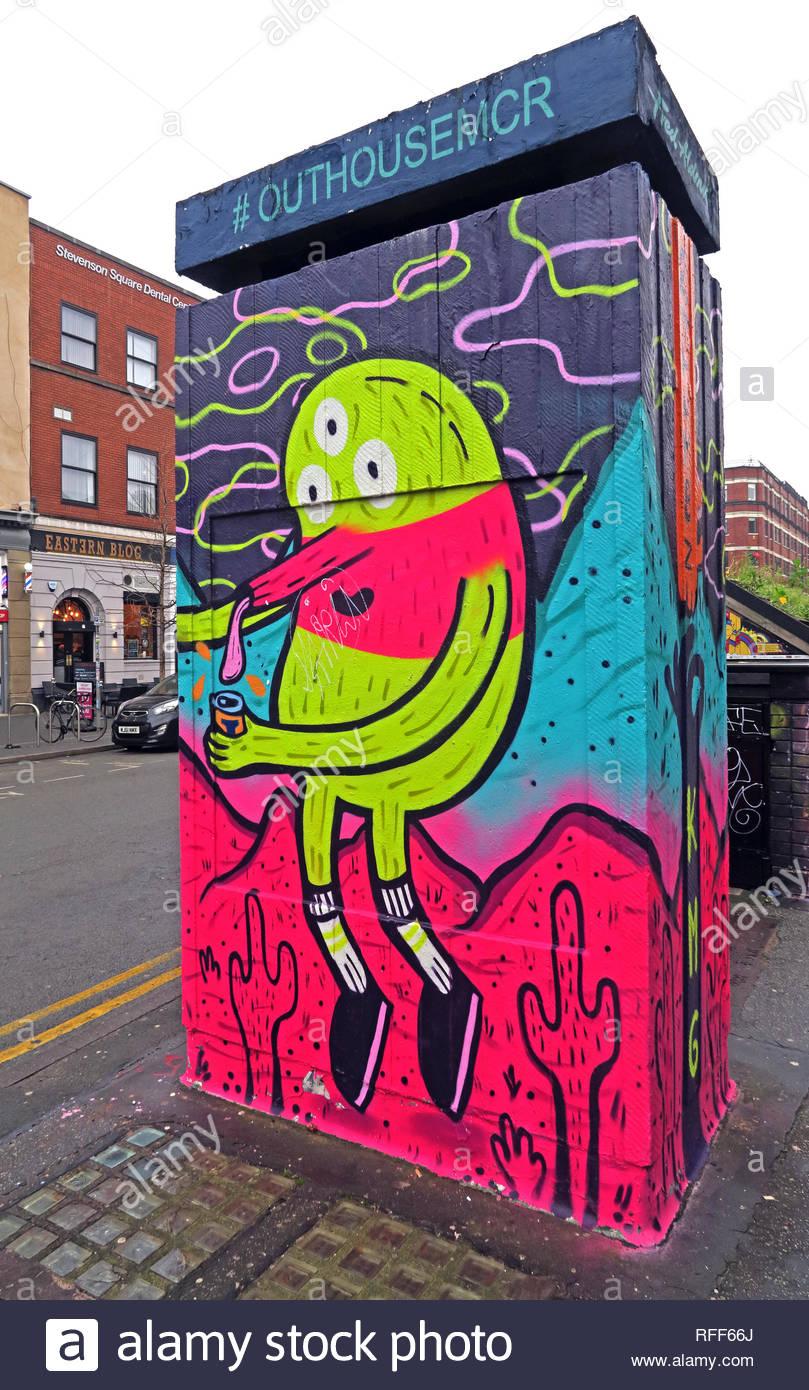 City centre,city,@HotpixUK,HotpixUK,GoTonySmith,UK,England,art,cacti,M1,North West,Manchester,North West England,artist,street art,street artist,mural