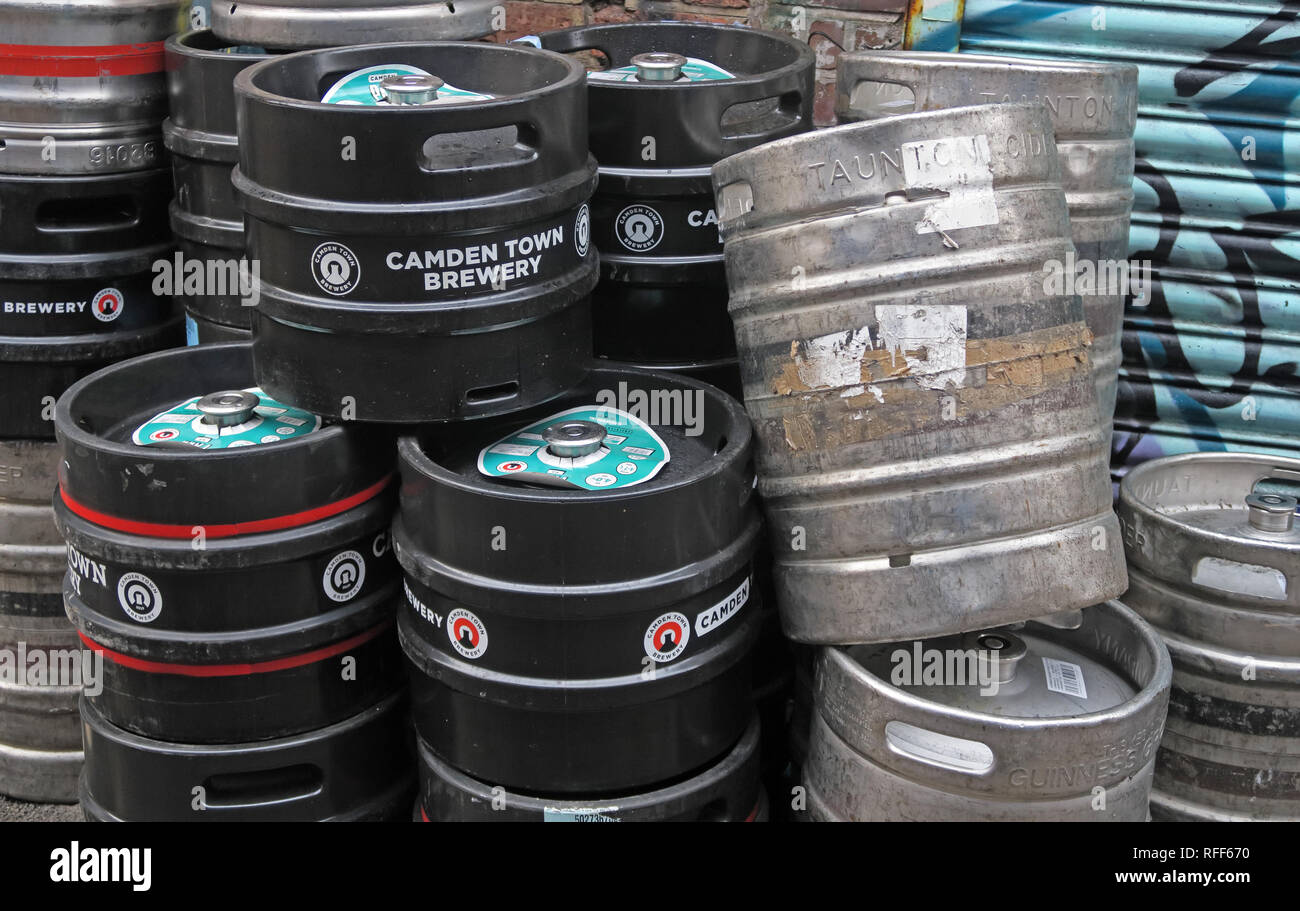 Manchester,City centre,city,@HotpixUK,HotpixUK,GoTonySmith,North West England,UK,England,craft beer and cider kegs rear of a bar,in Northern Quarter,kegs,cider kegs,rear,pub,bar,NQ4,Northern Quarter,North West,northernquarter,beer shop,beer,shop,keg hire,empty,alcohol,alcoholic,black,silver,microbrewery,sustainable,CAMRA,Camden Town Brewery,English brewery,ale,kegs stacked,waiting for collection,local,small batch