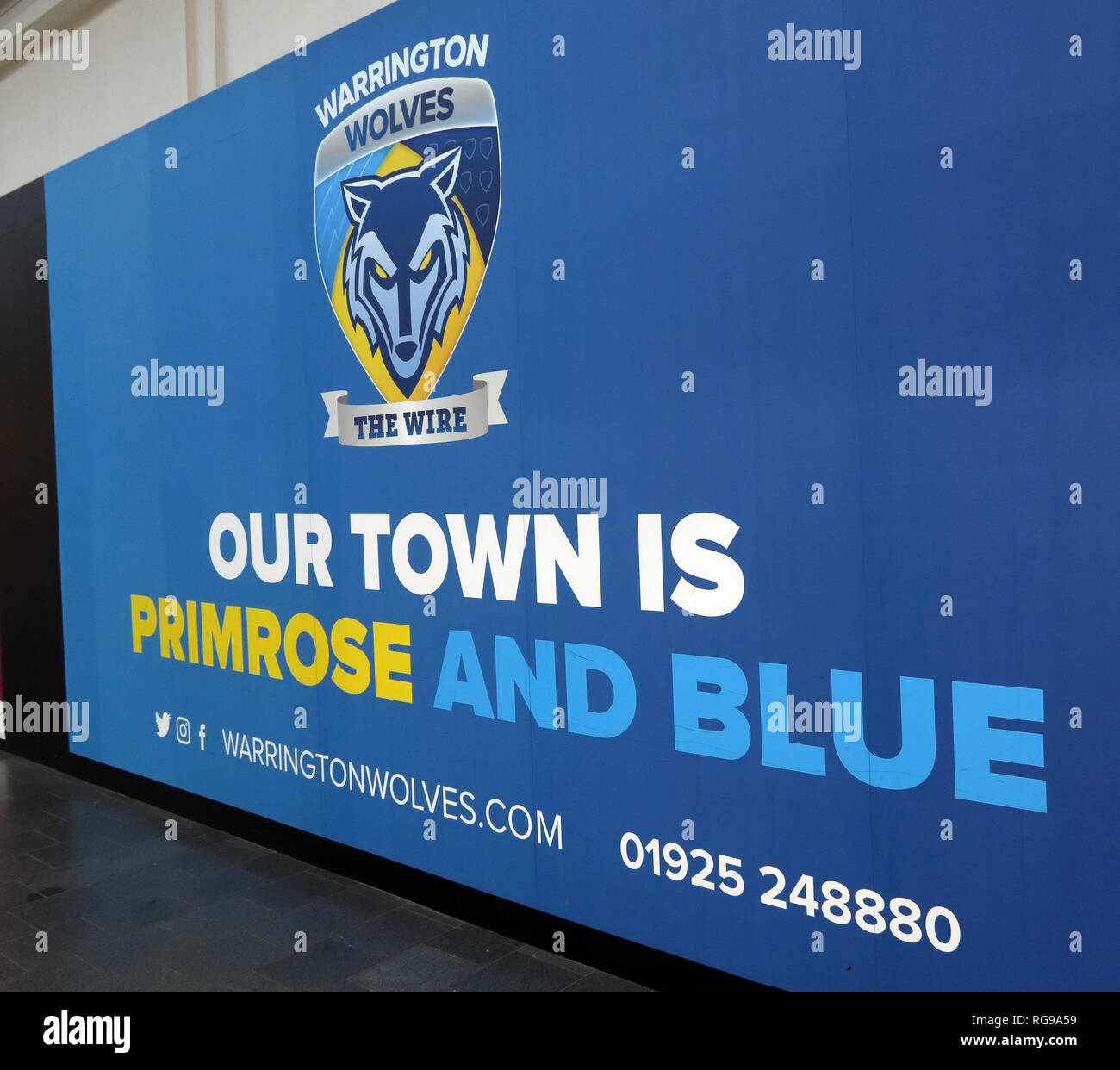 GoTonySmith,HotpixUK,@HotpixUK,England,UK,North West England,Cheshire,GB,town,town centre,Warrington Wire,Warrington Wolves,Wolves,Wire,Rugby,League,Rugby League,Our Town,is,Primrose and Blue,poster,yellow,The Wire,the Wolves,North West