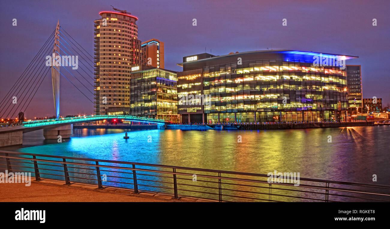 GoTonySmith,@HotpixUK,HotpixUK,BBC Media City,Media City UK,water,reflections,night,wide,pano,North West England,UK,Media City,Television,Studios,North West,North,NorthWest,at night,nighttime,night shot,BBC Studios,City of Salford,Greater Manchester,England,Peel Holdings,M50 2EQ,M50,News,Manchester Docks,development,buildings,architecture,waterfront,studio,studios,Manchester Ship Canal,docks,public,broadcaster