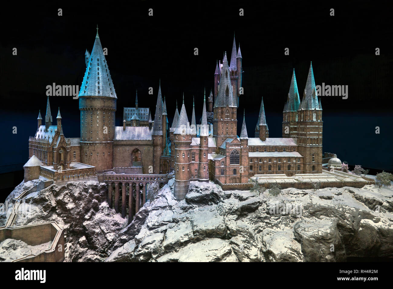 Hogwarts in the Snow, Warner Brothers Studio Tour, Leavesdon Stock Photo