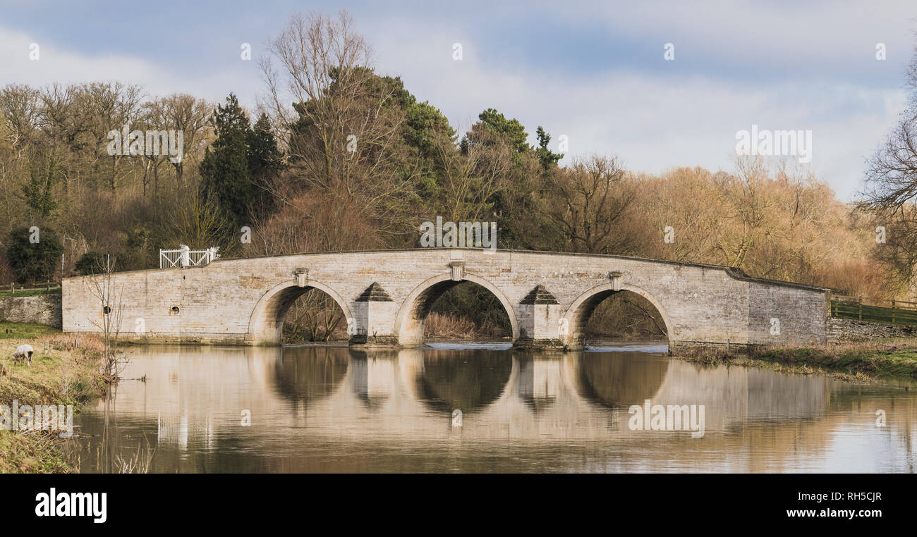 Milton Ferry Bridge over the River Nene, Peterborough, Cambridgeshire Stock Photo