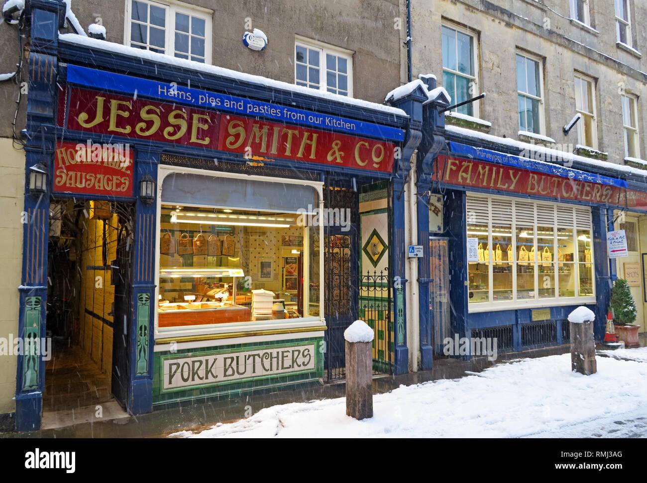 @HotpixUK,HotpixUK,GoTonySmith,England,UK,snow,cold weather,winter,weather,Christmas,card,scene,cold,colder,tourist,tourism,travel,Oxfordshire,market,town,centre,in winter,Roman,stone,buildings,architecture,Cotswold Architecture,Cotswolds,Cotswold,pork,butchers,Jesse Smith,traditional,pork butchers,pork butcher,South West England,Black Jack St,Black Jack Street