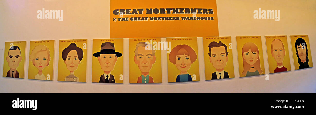GoTonySmith,HotpixUK,@HotpixUK,Manchester,England,UK,GB,North West England,city centre,great northerners,wall,display,entertainment,complex,red,brick,railway,warehouse,Northern,Great,Deansgate,Deansgate Manchester,Great Northerners at the Great Northern Warehouse,famous northern faces,235 Deansgate,M3 4EN,M3,Ian Brown,Caroline Aherne,Victoria Wood,Mancunians,icons,artists,sports,faces,Stanley Chow,Liam Gallagher,Forever Manchester,10 Great Northerners,Ten Great Northerners