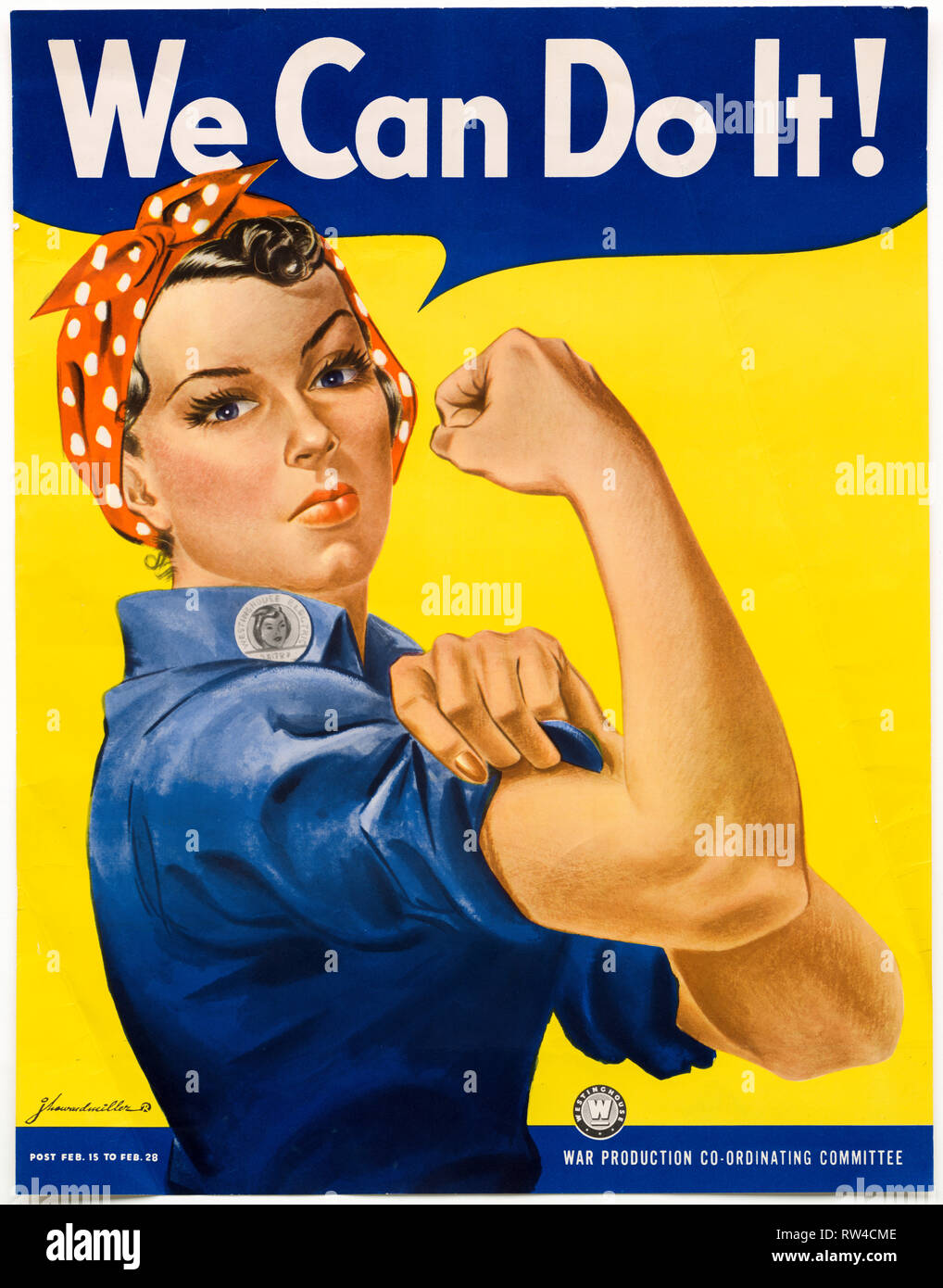 We Can Do It poster, US World War 2, c. 1942- 1943 Stock Photo