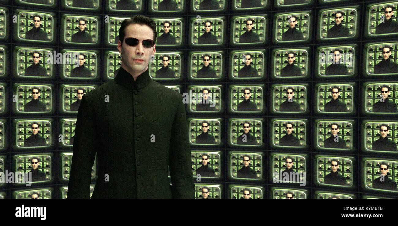 KEANU REEVES, THE MATRIX RELOADED, 2003 Stock Photo