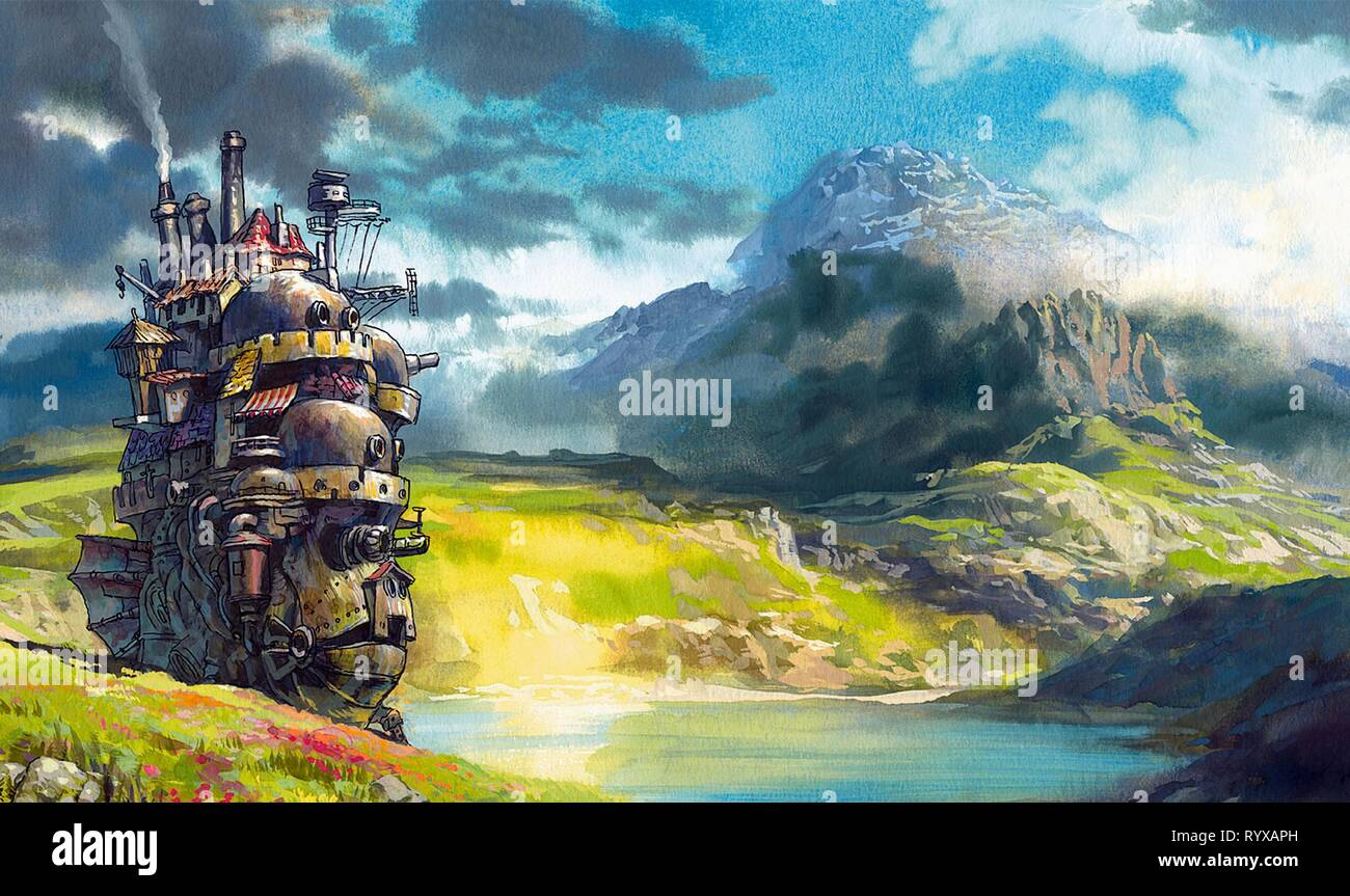 THE CASTLE, HOWL'S MOVING CASTLE, 2004 Stock Photo