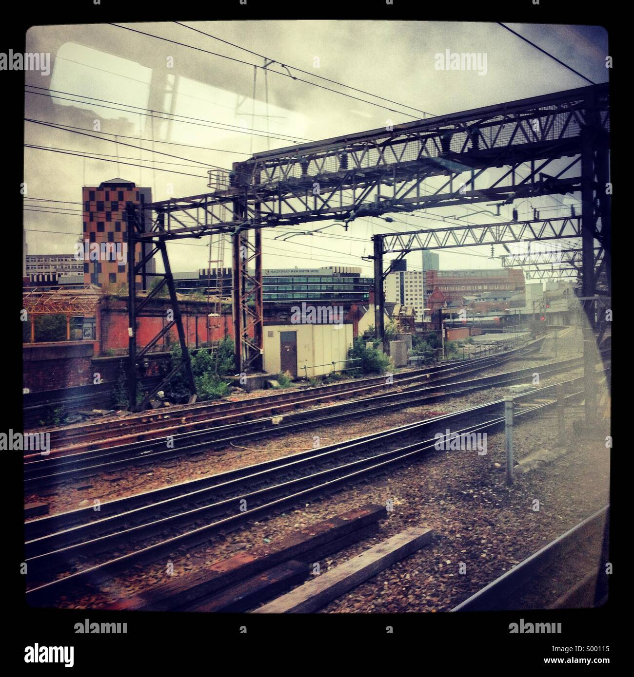 Manchester railway lines - Stock Image