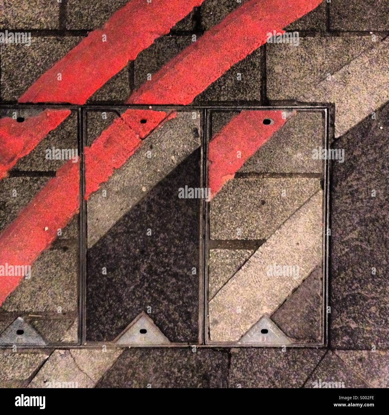 Abstract street pattern - Stock Image
