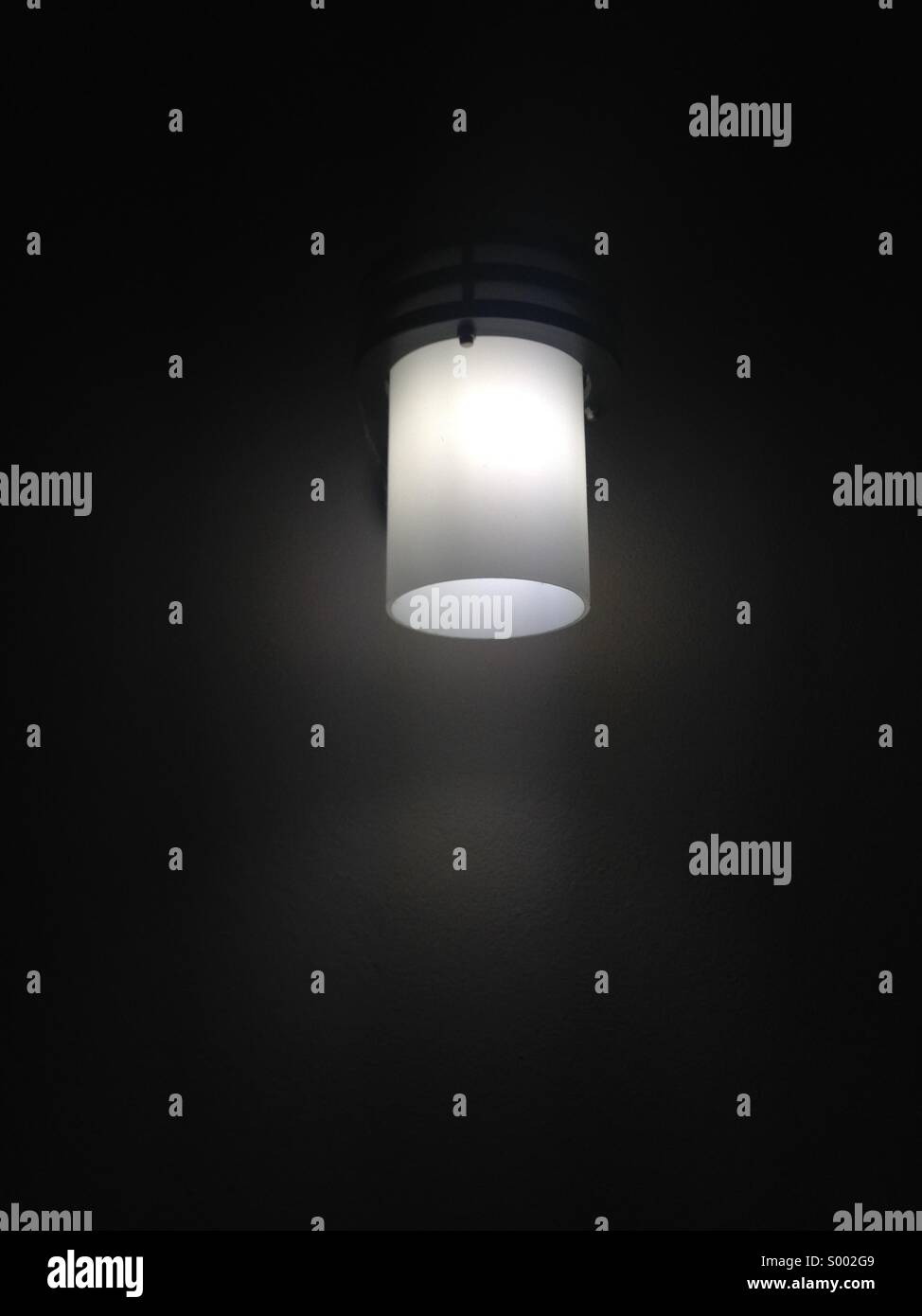 A lamp is powe light. - Stock Image