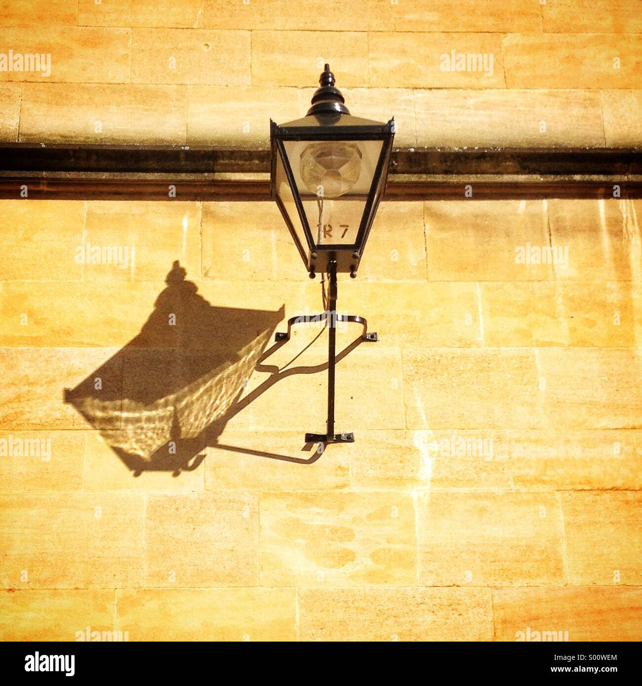 Old lamp, oxford, UK - Stock Image