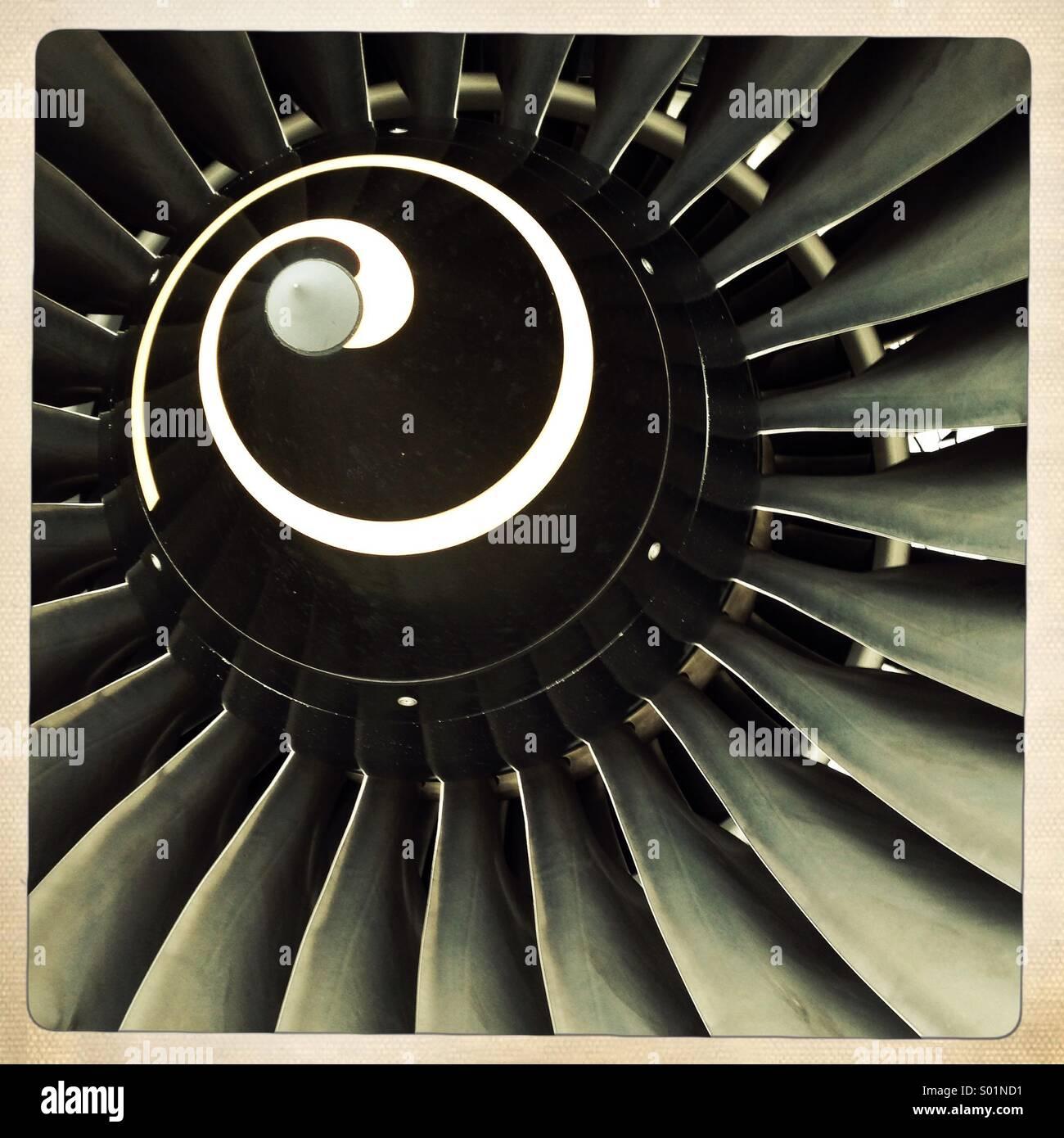 aircraft engine - Stock Image