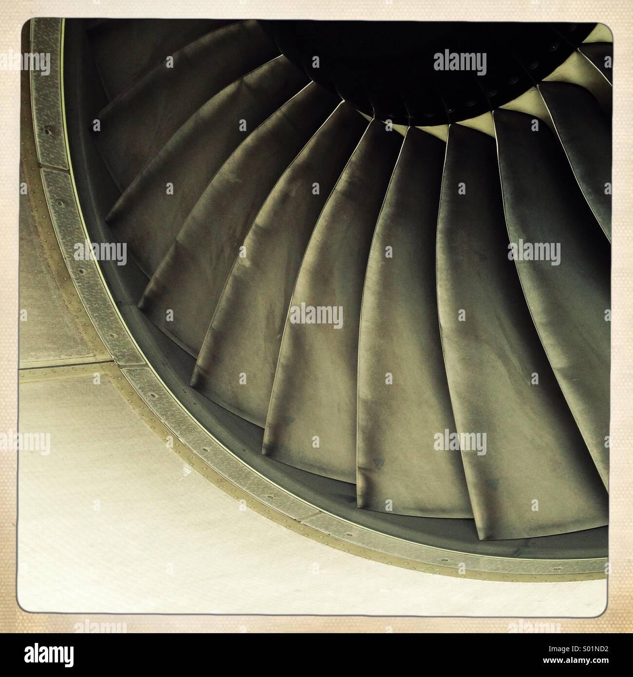 Aircraft engine blades - Stock Image