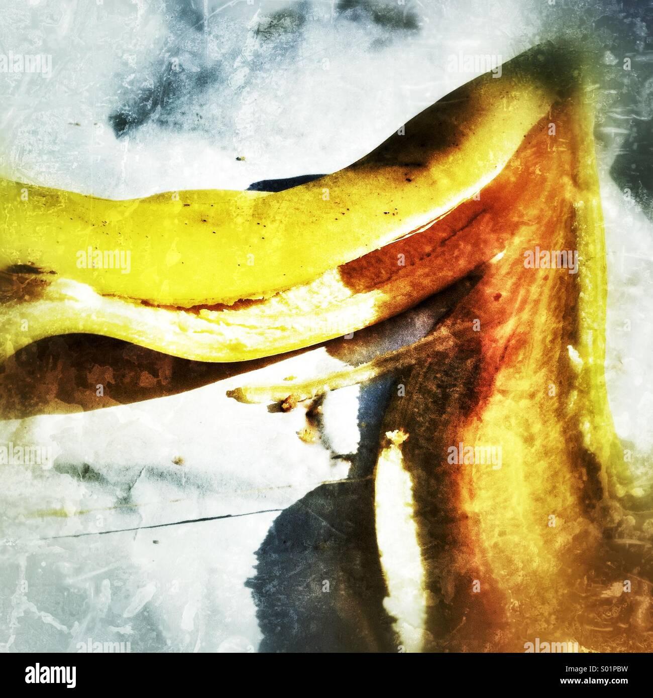 Banana Skin - Stock Image