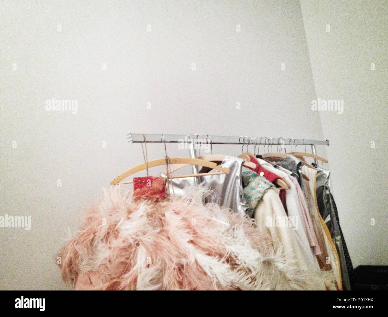 Costumes on rack - Stock Image