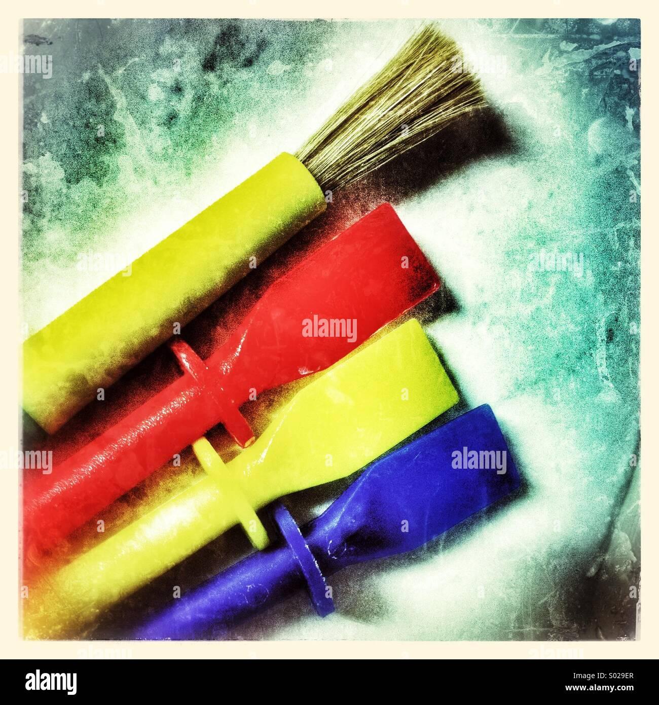 Brush and Spatulas - Stock Image